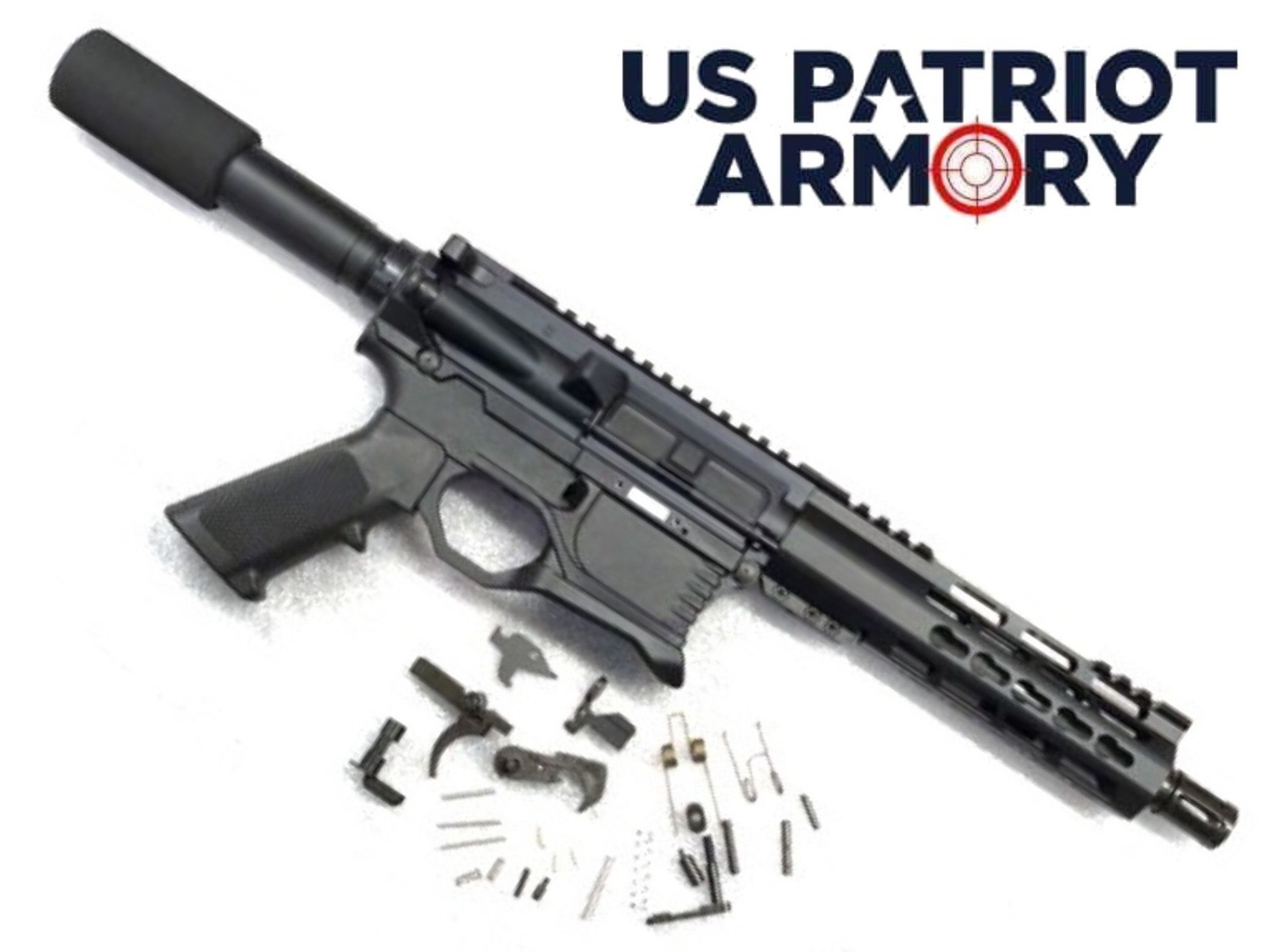 "SALE OVER STOCK!!! AR-15 80% Pistol Kit Your pick: 5.56 NATO, 300 Black-Out, 7.62x39 7.5"" Barrel w/ BCG, Charging Handle, Lower Parts Kit & P80 80% Lower"