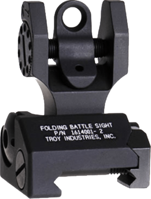 Troy Folding Rear Tritium Sight - Black