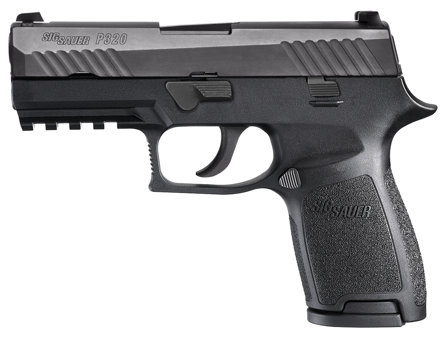 "80% Sig Sauer - P320 Full Size Double 9mm Luger 4.7"" 17+1 - 2 Mags - Black Polymer Grip - Black Nitron Stainless Steel"