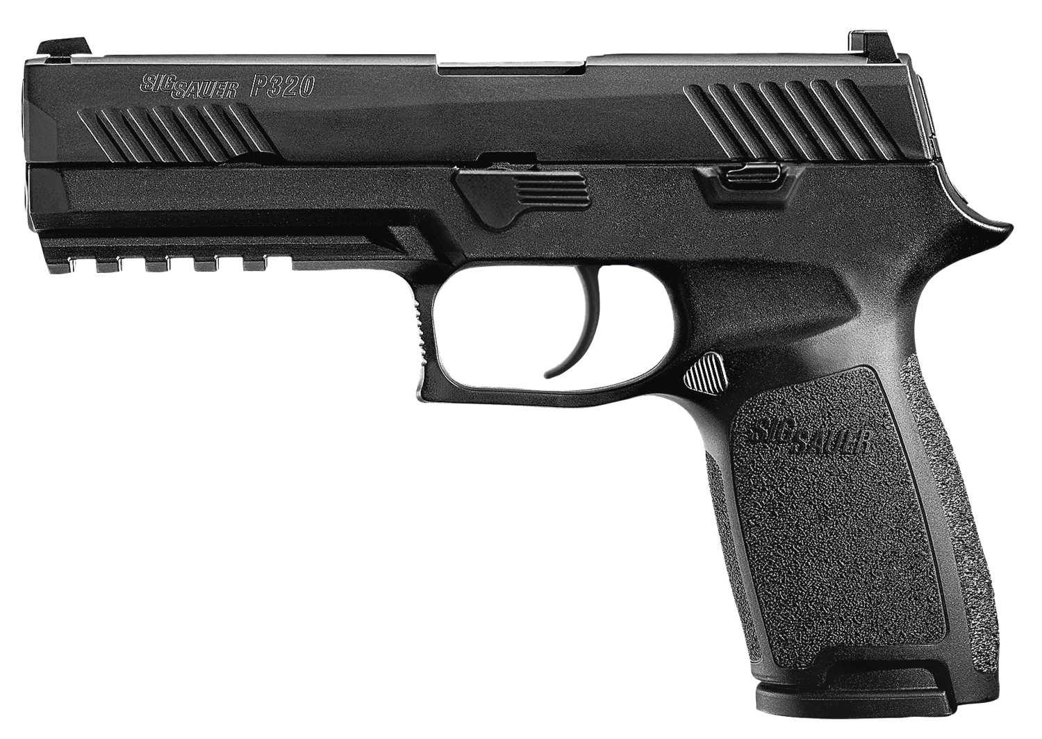 """80% Sig Sauer - P320 Full Size 9mm Luger Double 4.7"""" 10+1 - 2 Mags - Black Polymer Grip Black Stainless Steel Frame - Black Nitron Stainless Steel Slide"""