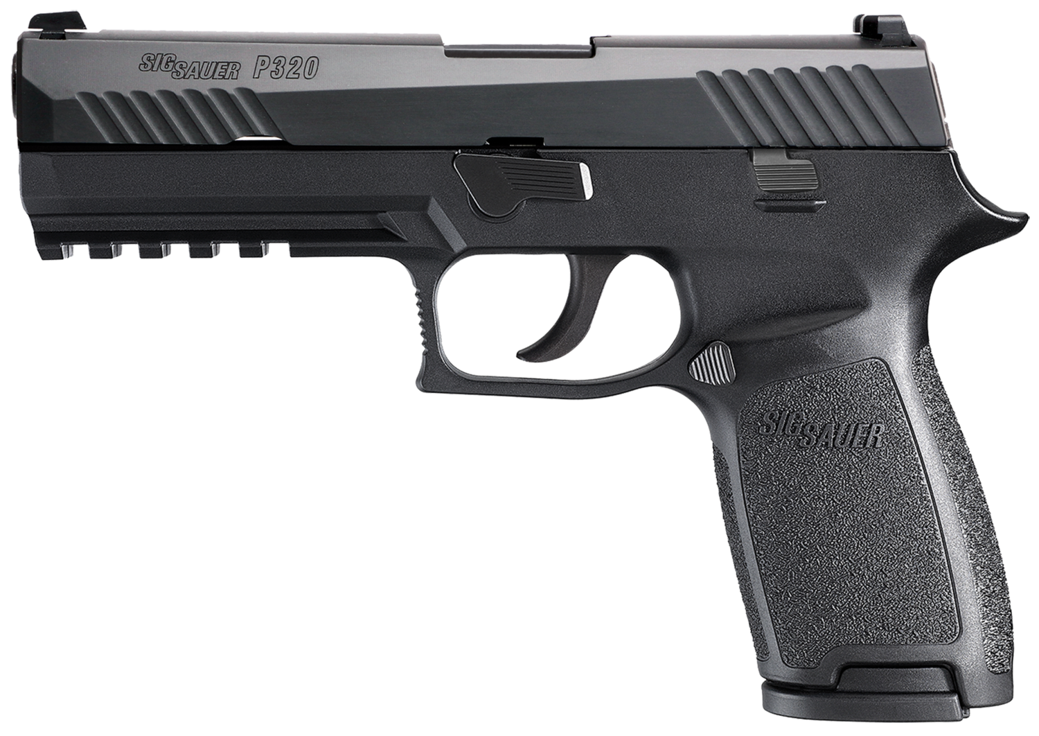 """80% Sig Sauer - P320 Full Size Double 40 Smith & Wesson (S&W) 4.7"""" 14+1 - 2 Mags - Black Polymer Grip - Nitron Stainless Steel"""