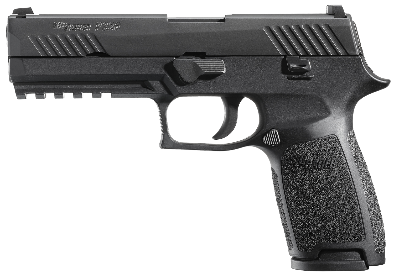 "80% Sig Sauer - P320 Full Size Double 45 Automatic Colt Pistol (ACP) 4.7"" 10+1 - 2 Mags -  Black Polymer Grip - Nitron Stainless Steel"