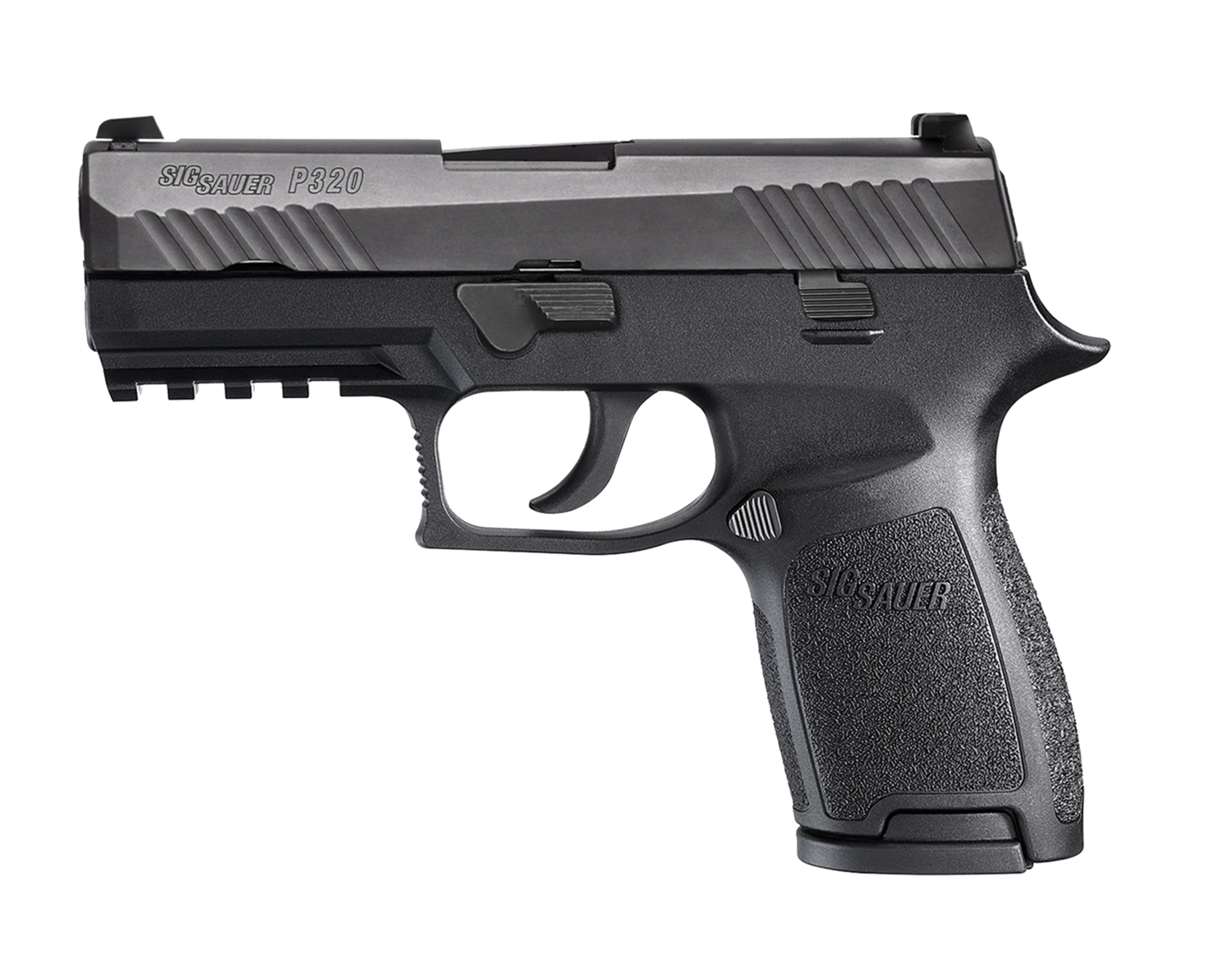 """80% Sig Sauer - P320 Full Size Double 40 Smith & Wesson (S&W) 4.7"""" 10+1 - 2 Mags - Black Polymer Grip - Nitron Stainless Steel"""