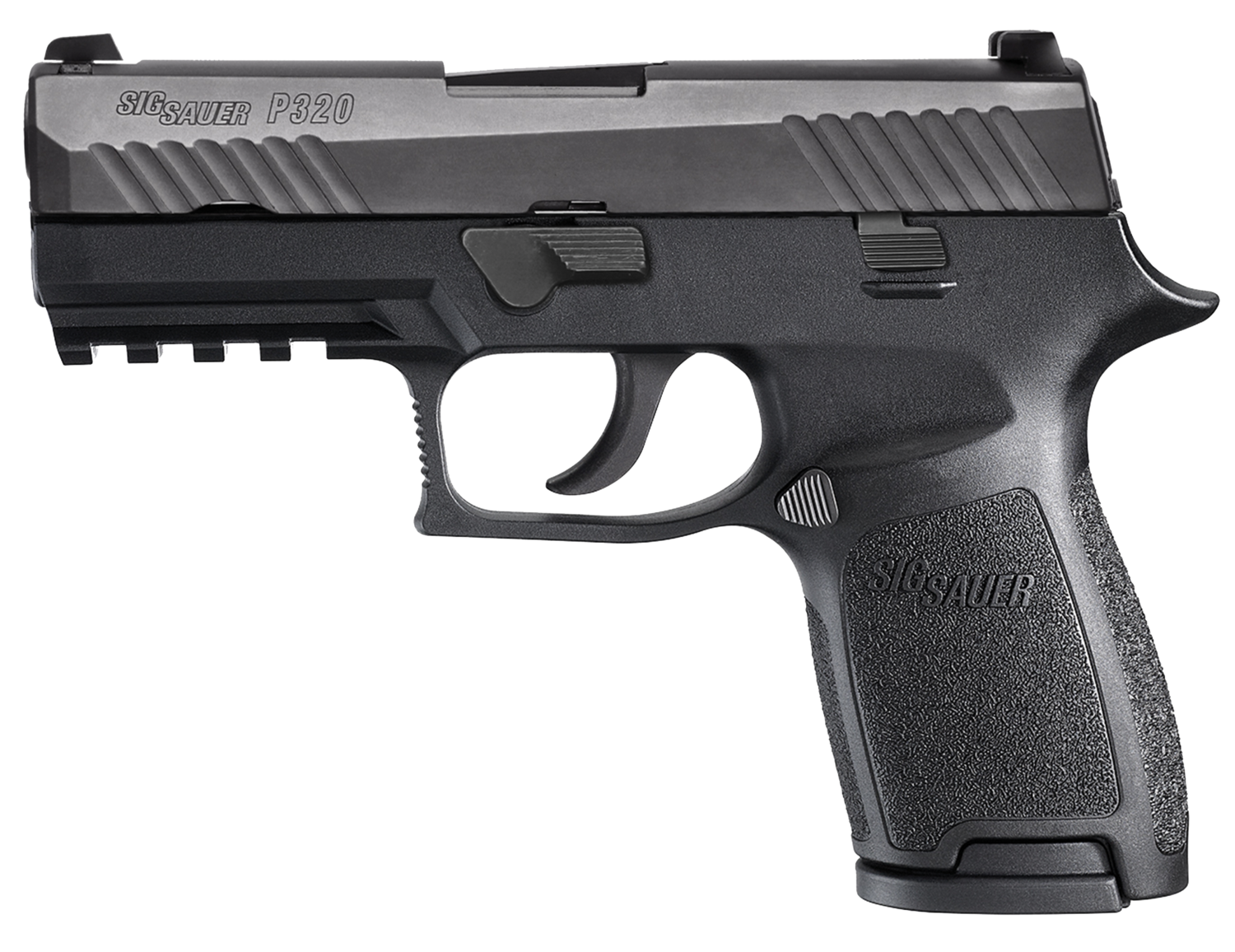 "80% Sig Sauer - P320 Compact Double 9mm Luger 3.9"" 15+1 - 2 Mags - Black Polymer Grip - Black Nitron Stainless Steel"
