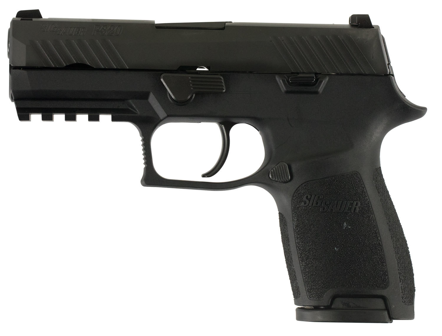 "80% Sig Sauer - P320 Compact Double 9mm Luger 3.9"" 10+1 - 2 Mags - Black Polymer Grip - Black Nitron Stainless Steel"