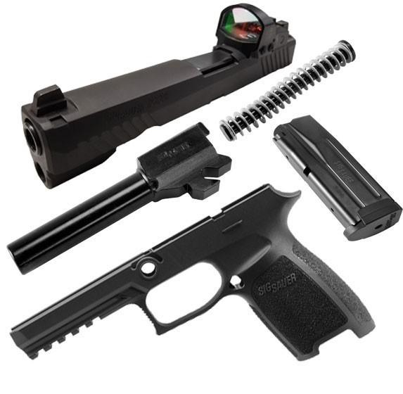 Caliber X-Change Kit - P320 Full Size RX - 9mm - 17 Rnd Mag - Blk