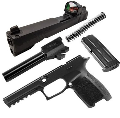 Caliber X-Change Kit - P320 Full Size RX - 9mm - 17 Rnd Mag - Blk