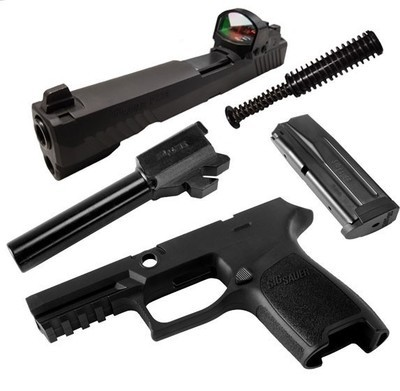 Caliber X-Change Kit - P320 Compact RX - 9mm - 15 Rnd Mag - Blk