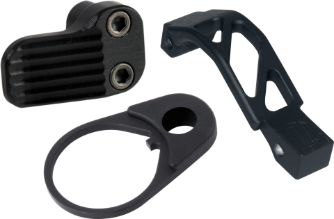 AR Color Kit - Extended Magazine Release - AR Oversized Trigger Guard - QD End Plate