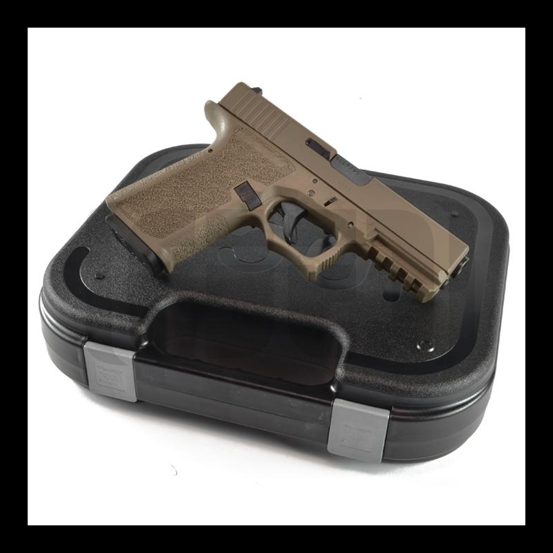Glock G19 - 80% Pistol Build Kit 9mm - POLYMER80 PF940C - FDE