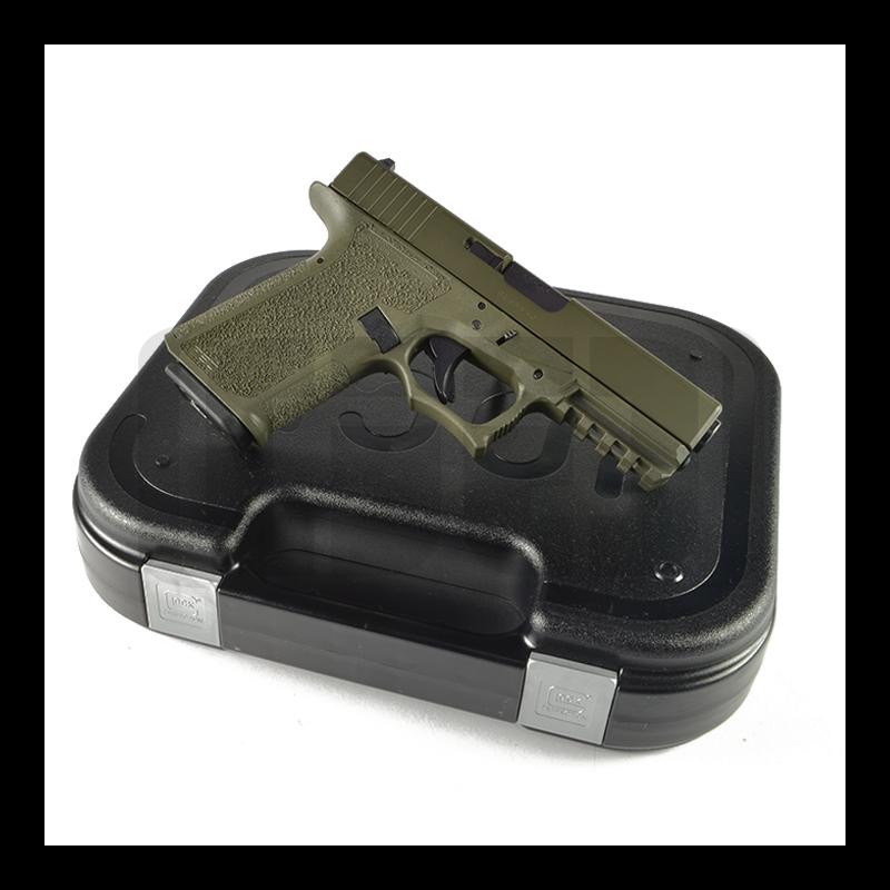 Glock G19 80% Pistol Build Kit 9mm - Polymer80 PF940C - OD Green