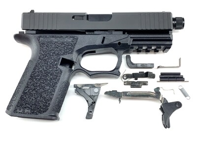 Patriot G19 80% Pistol Build Kit With Threaded 9mm Barrel - Polymer80 PF940C - Black