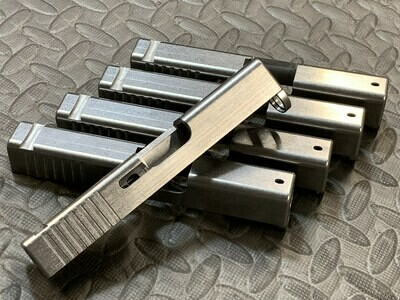 Glock 43 Slide With Rear Serrations In The Raw