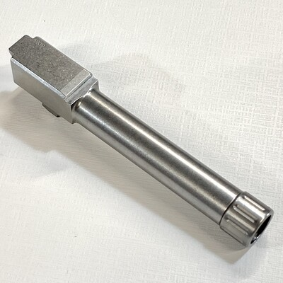 Premium Glock 19 Stainless 9mm Threaded Barrel