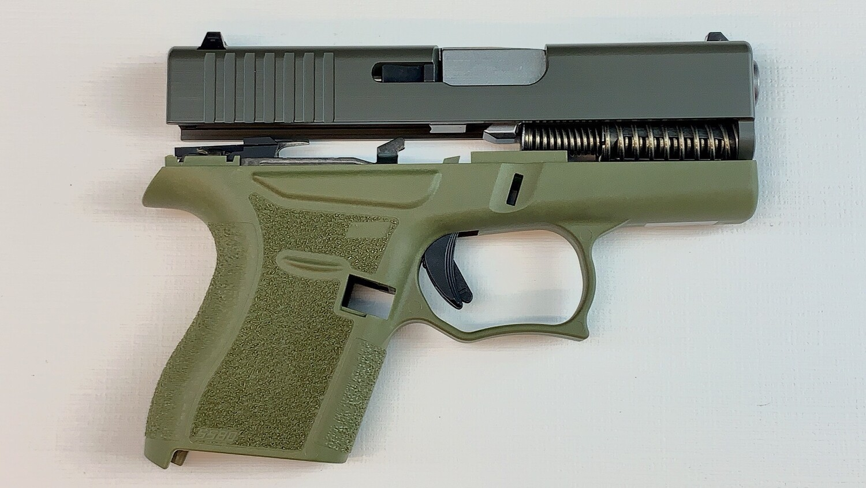 80% Glock 43 Subcompact Full Pistol Build Kit OD Green