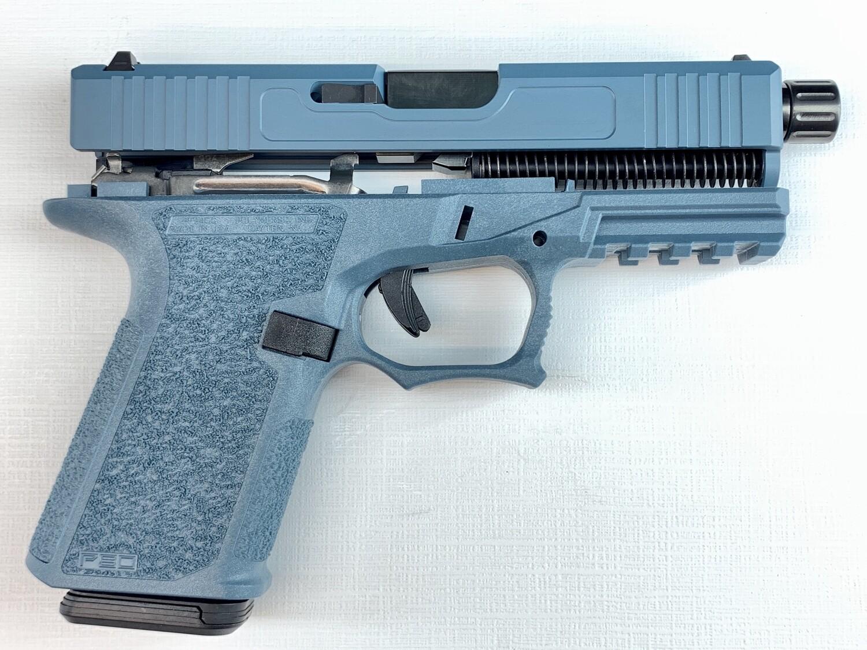 Patriot G19 80% Pistol Build Kit Threaded Black DLC 9mm Barrel - Polymer80 PF940C - Jesse James Blue - Magpul 10rd Magazine 1