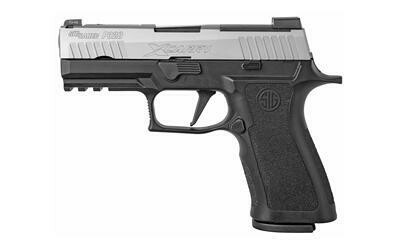 """80% Sig Sauer, P320, X-Carry, Striker Fired, 9MM, 3.9"""" Barrel, Black Polymer Frame, Stainless Slide, X-Ray3 Front Sights, With Night Sight Rear Plate, 17Rd, 2 Mags"""