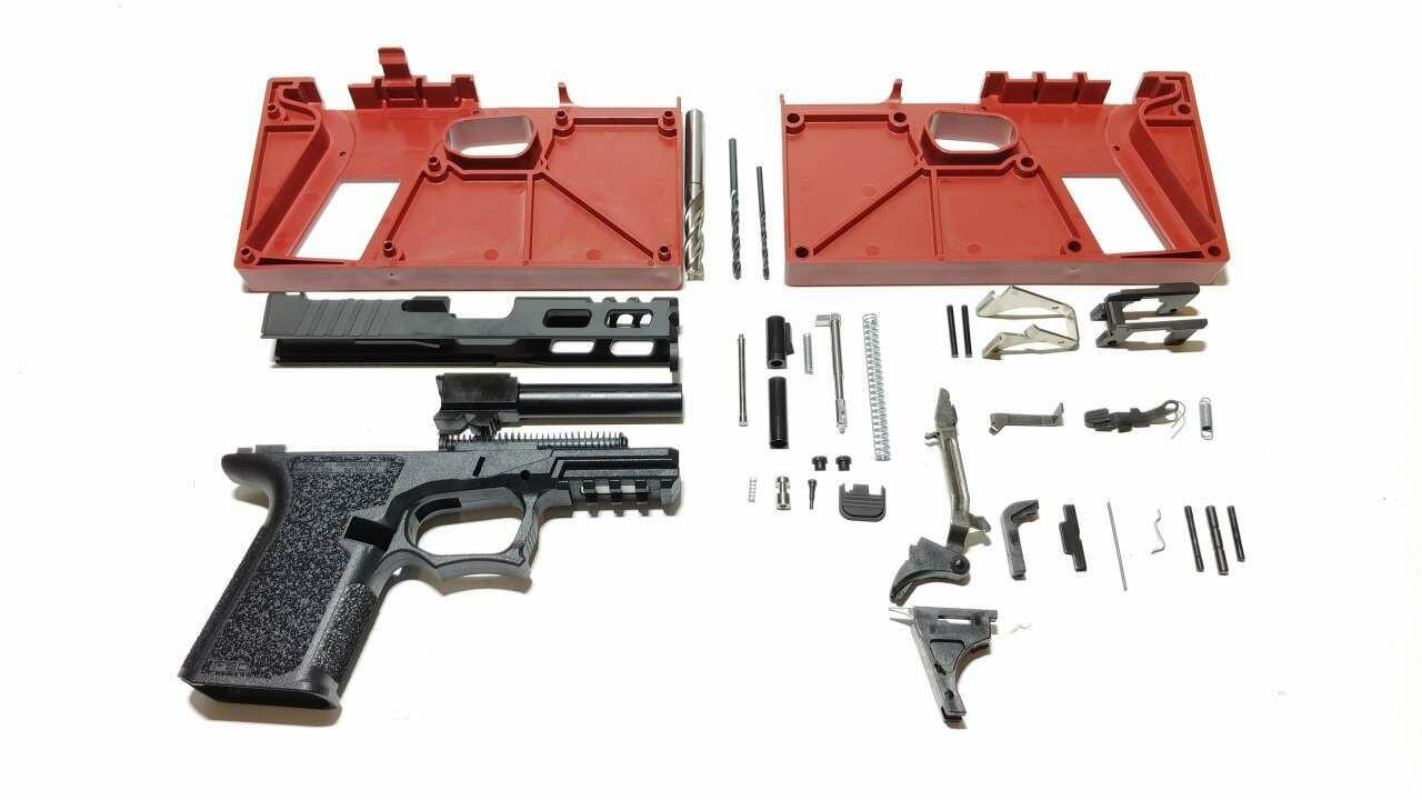 80% Polymer80 Freedom Windowed Slide, RMR Pistol Build Kit 9mm You Pick G19 Compact - G17 Full Size & Color