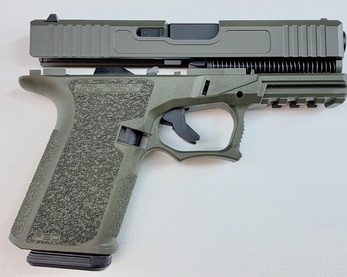Patriot G19 80% Pistol Build Kit 9mm - Polymer80 PF940C - OD Green - 10rd Mag