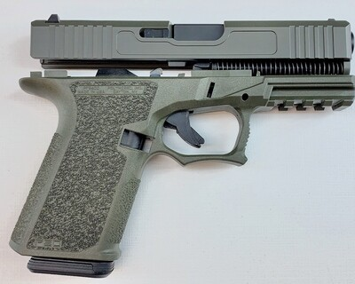 Patriot G19 80% Pistol Build Kit 9mm - Polymer80 PF940C - OD Green - 10rd Mag