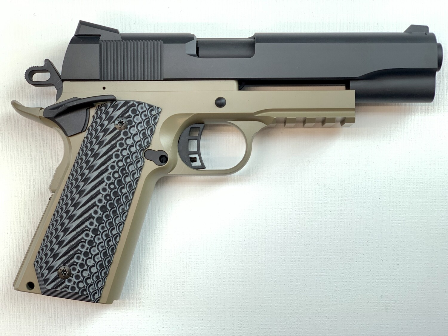 1911 Tactical Full Size 80% Builders Kit FDE / BLK: Choice of .45 ACP - 9mm - 10mm - 40 Cal
