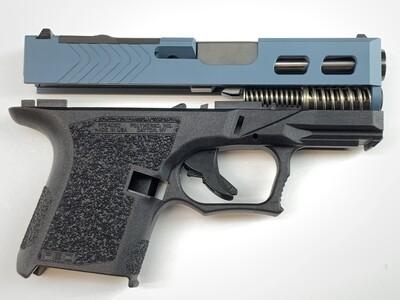 80% Glock 26 9mm Subcompact Windowed Slide, RMR - RMR Cover - Black DLC Barrel - Pistol Build Kit - Jesse James Blue