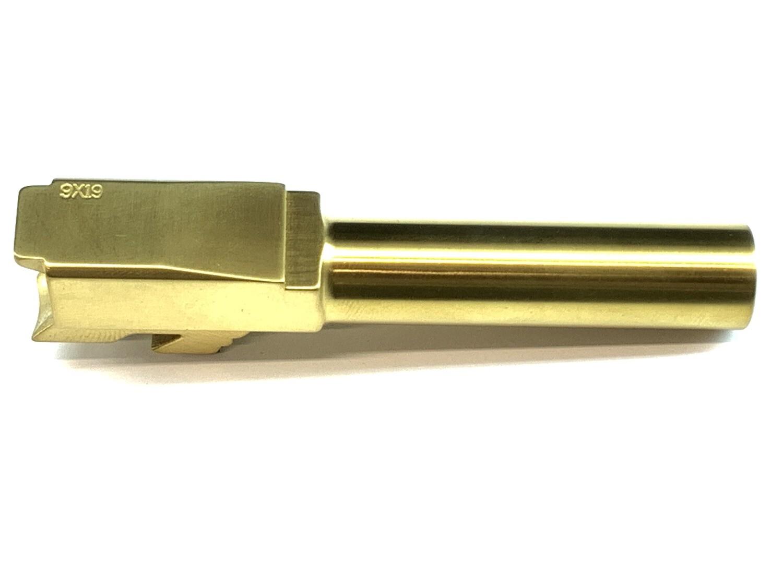 Premium Glock 43 Tin Gold Barrel