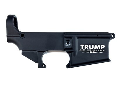 AR-15 80% Trump 2020 Keep America Great Lower Receiver - Black Anodized Forged 5.56/.223