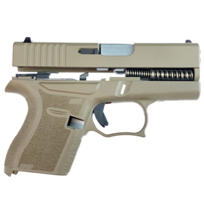 80% Glock 43 Subcompact Full Pistol Build Kit FDE Comes With Amend2® 6 Round Magazine