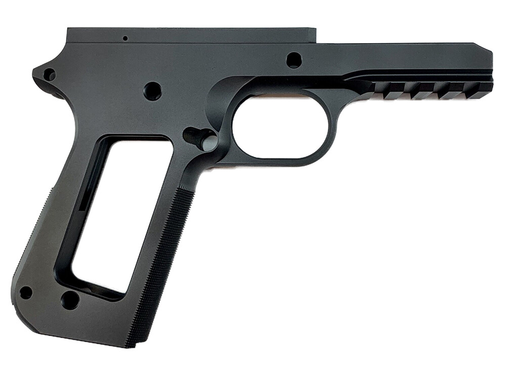 1911 80% Tactical Full Size Government .45 Or 9mm 70 Series -  Bobtail - Checkered Front Grip - Aluminum Frame