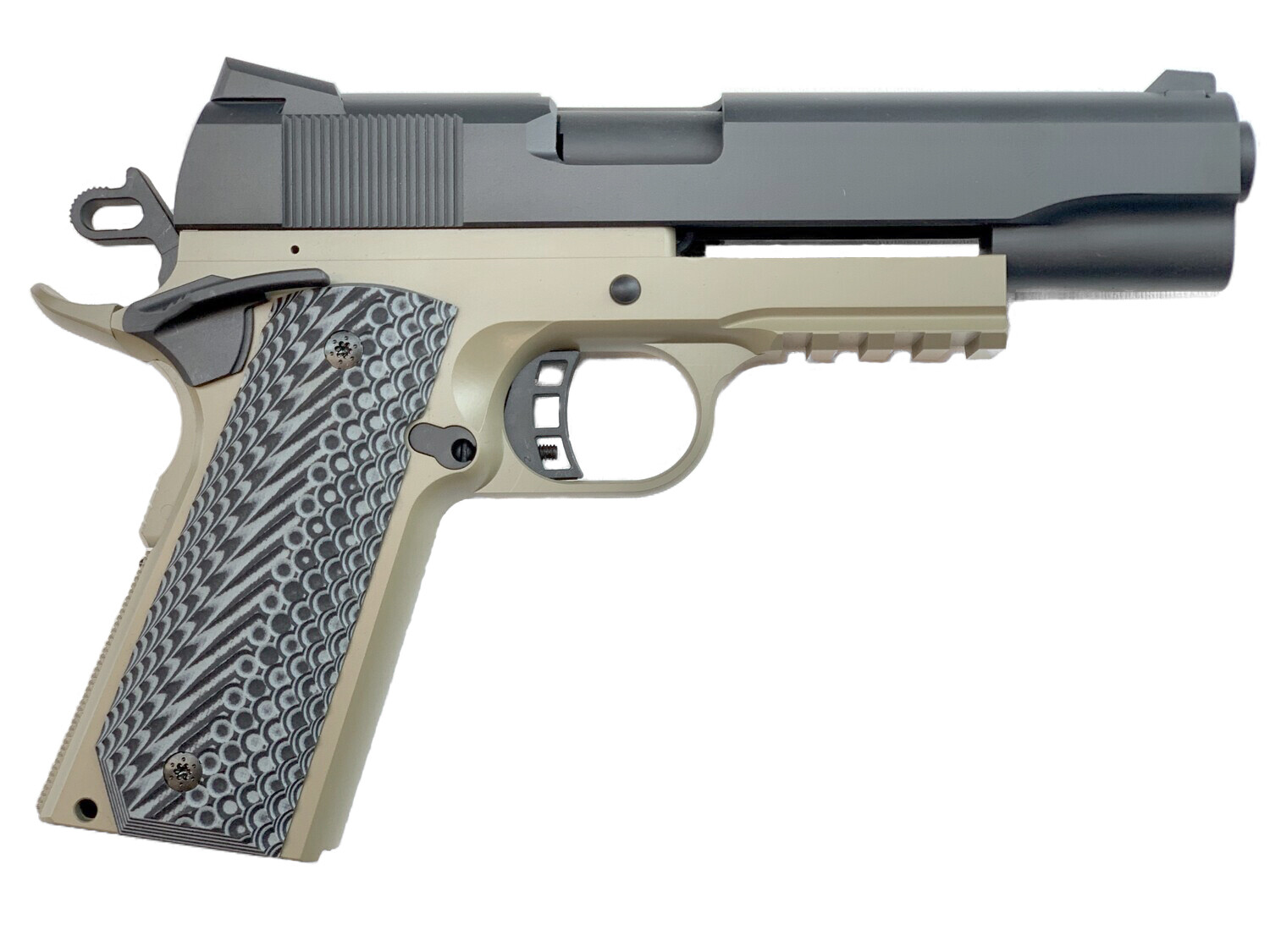 SALE!!! FREE STEALTH ARMS PHANTOM 1911 JIG WITH ORDER!!! 1911 Tactical Full Size 80% Builders Kit FDE / BLK: Choice of .45 ACP - 9mm - 10mm - 40 Cal