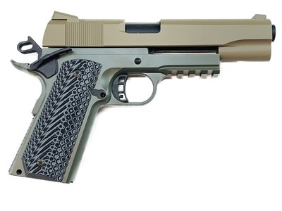 1911 Tactical Full Size 80% Builders Kit Foliage Green / FDE: Choice of .45 ACP - 9mm - 10mm - 40 Cal
