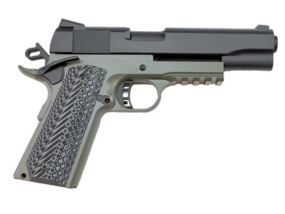 1911 Tactical Full Size 80% Builders Kit Foliage Green: Choice of .45 ACP - 9mm - 10mm - 40 Cal