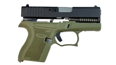 80% Glock 43 Subcompact Full Pistol Build Kit OD Green / Black Comes With Amend2® 6 Round magazine