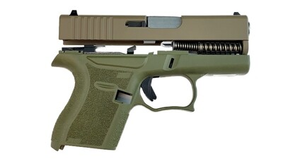 80% Glock 43 Subcompact Full Pistol Build Kit FDE / OD Green Comes With Amend2® 6 Round Magazine