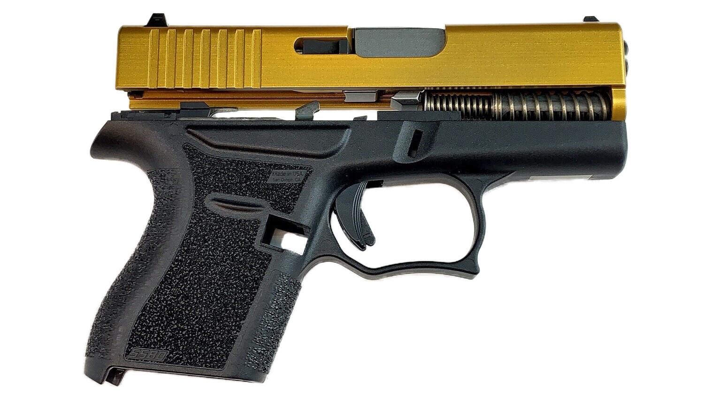 80% Glock 43 Subcompact Full Pistol Build Kit Gold / Black