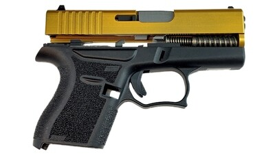 80% Glock 43 Subcompact Full Pistol Build Kit Gold / Black