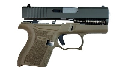 80% Glock 43 Subcompact Full Pistol Build Kit FDE / Blk