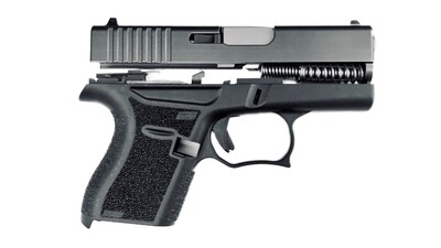 80% Glock 43 Subcompact Full Pistol Build Kit Grey / Black Includes: Amend2® 6 Round Magazine