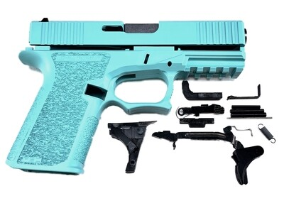 Patriot G19 80% Pistol Build Kit 9mm - Polymer80 PF940C - Robins Egg Tiffany Blue