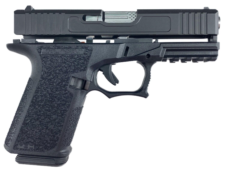 "Patriot G19 80% Stainless ""U.S. Battle Flag"" Pistol Build Kit 9mm - Black - Polymer80 PF940C - 10rd Mag"
