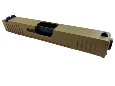 Glock 19 Slide w/ Front & Rear Serrations - FDE