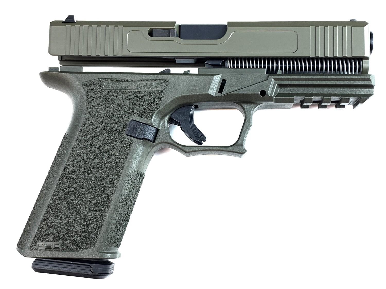 Patriot G17 80% Pistol Build Kit 9mm - Polymer80 PF940V2 - OD Green - 10rd Mag