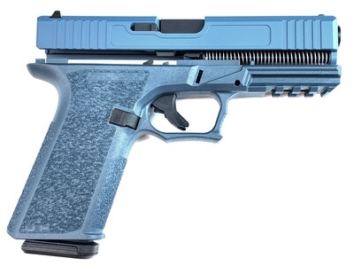 Patriot G17 80% Pistol Build Kit 9mm - Polymer80 PF940V2 - Blue Titanium - 10rd Mag