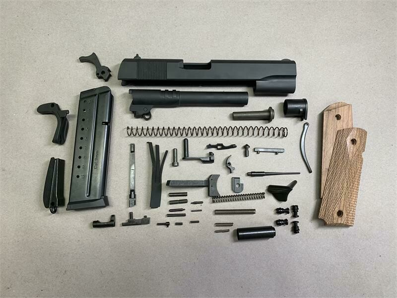 1911 9MM GI Builders Kit with Ramped Barrel, All Parts Less Frame