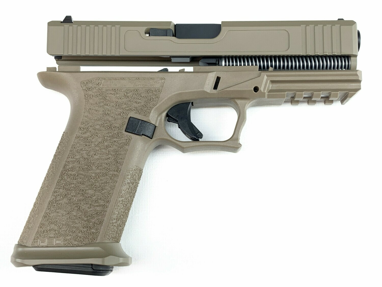 Patriot G17 80% Pistol Build Kit 9mm - Polymer80 PF940V2 - FDE - Steel City Magwell - 10rd Mag