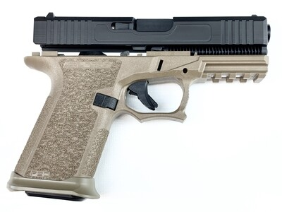 Patriot G19 80% Pistol Build Kit 9mm - Polymer80 PF940C - Black & FDE - Steel City Arsenal Magwell FDE - 10rd Mag