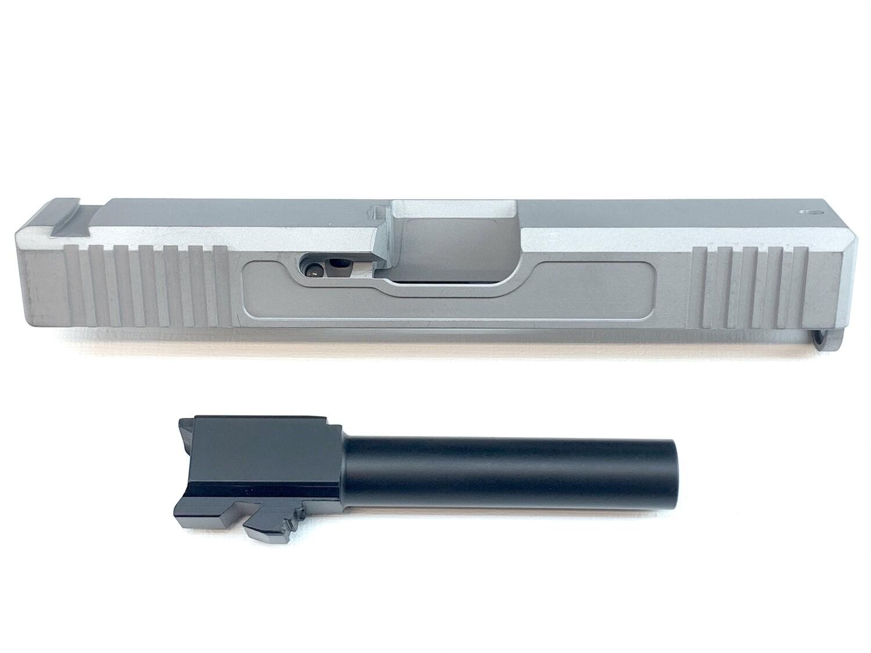 """""""Glock G19/G17 Builder Pack"""" - Glock 19/17 Slide w/ Serrations - Recessed Windows - Pick Your Color - 9mm Barrel - Black Nitride Coated"""