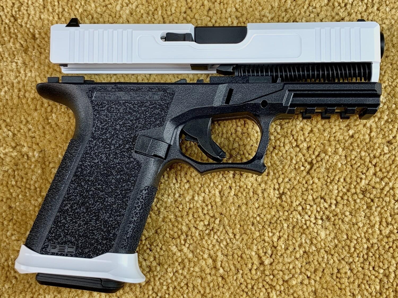 Patriot Stormtrooper G19 80% Pistol Build Kit 9mm - Slide  & Steel City Arsenal Magwell Stormtrooper White - Black Frame