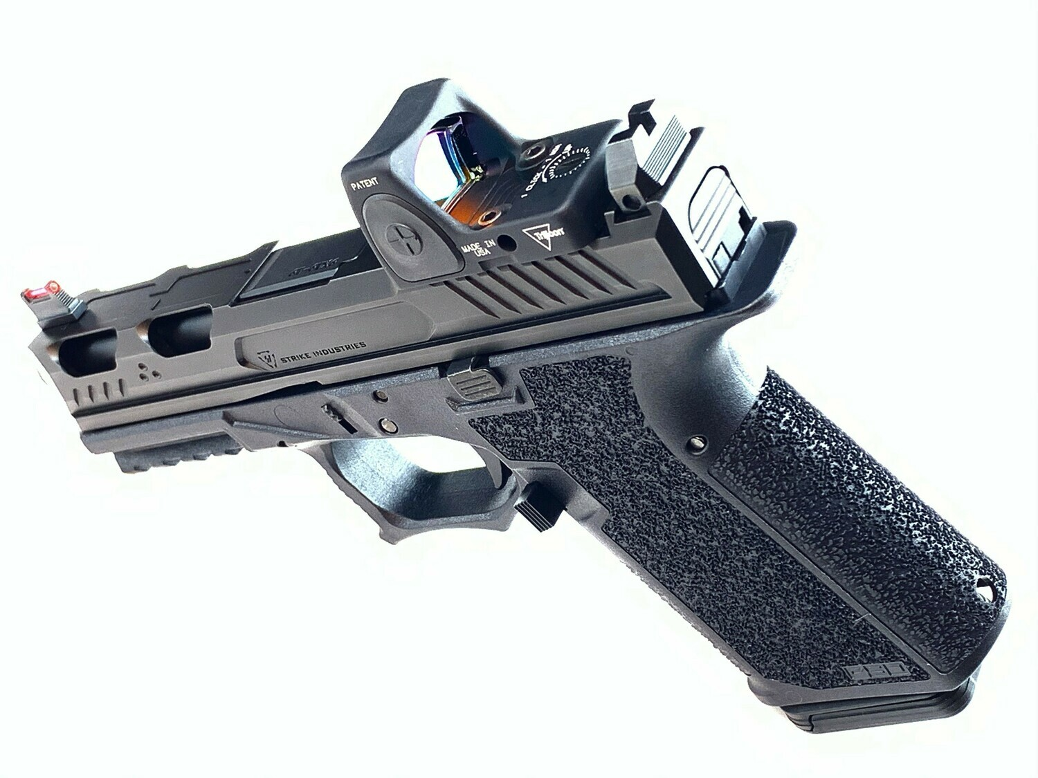 Strike Industries ARK 80% G19 Custom 9mm Pistol Build Kit- Trijicon RMR - Suppressor Sights